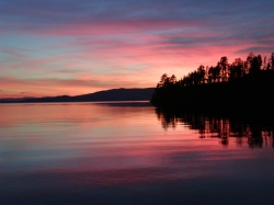 Sunset On Flathead Lake